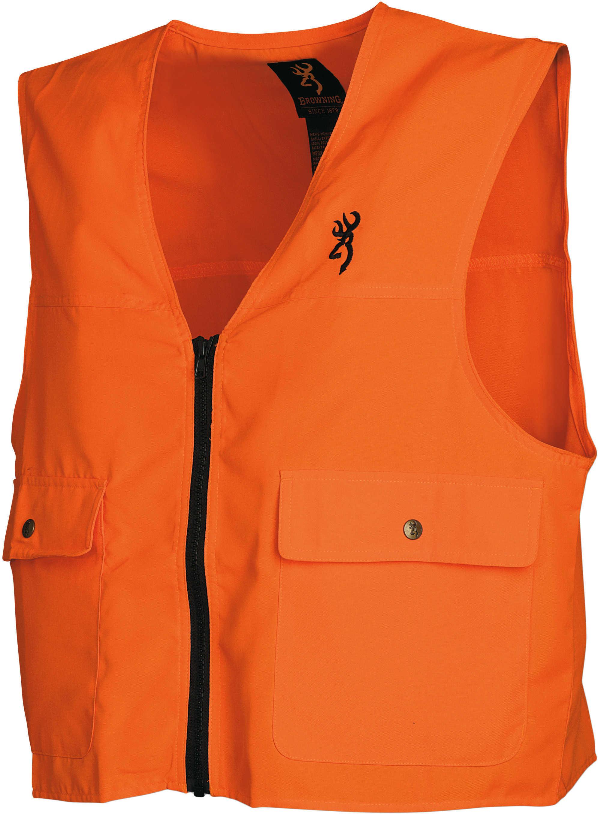 BG Safety Vest Buck Mark Logo Blaze Orange Xx-Large
