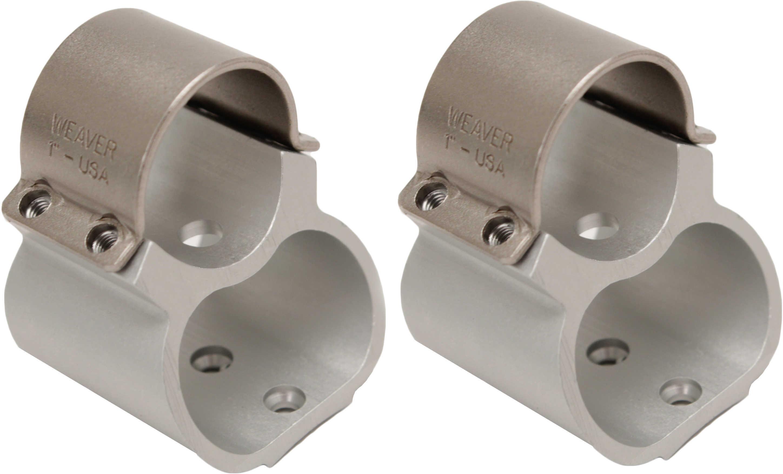 """Weaver Rings See-Thru Steel Lock 1"""" Ruger® 10/22® Silver"""