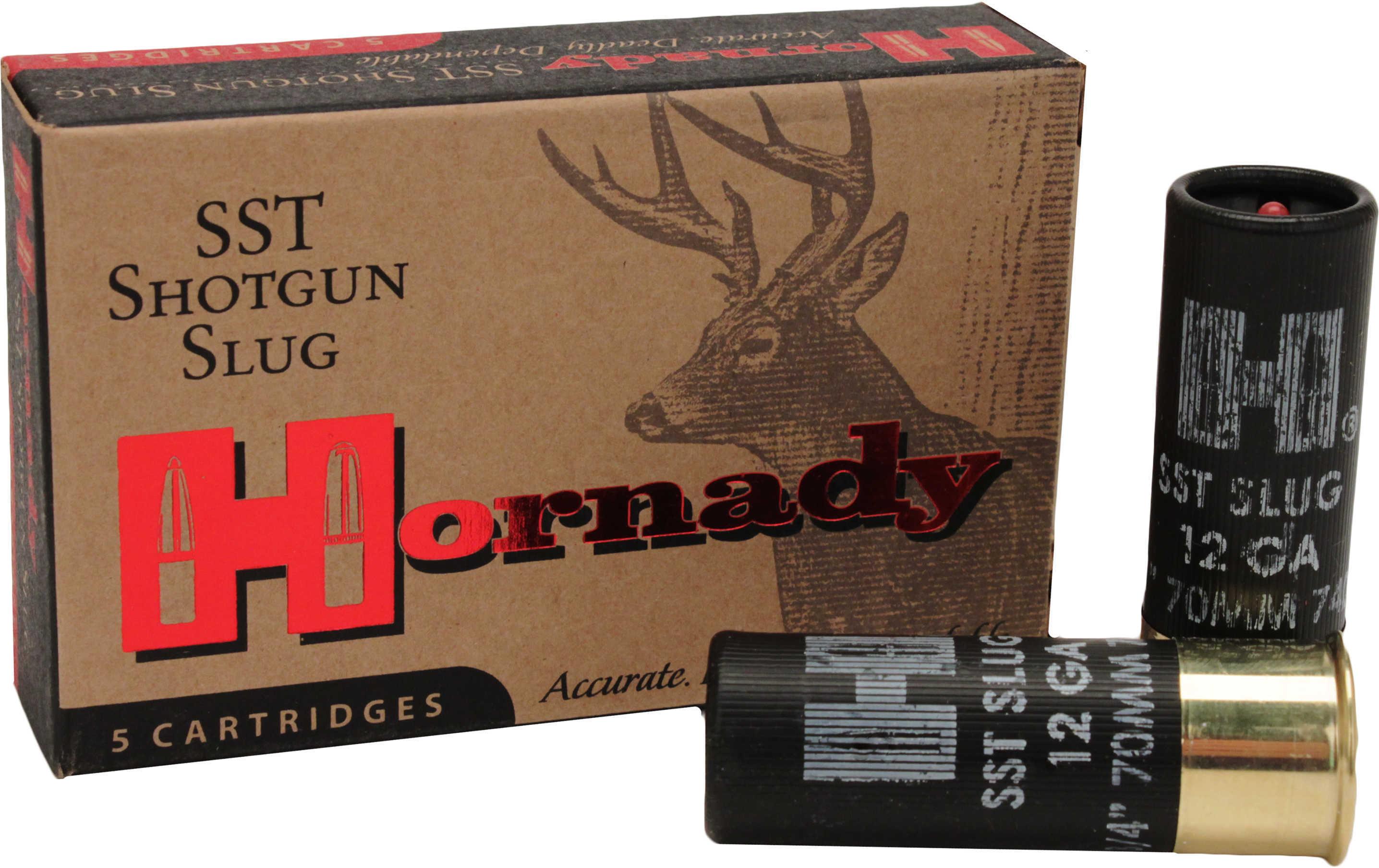 "Hornady 12 Gauge 2 3/4"" 300 Grain SST Slug Ammunition Md: 8623"