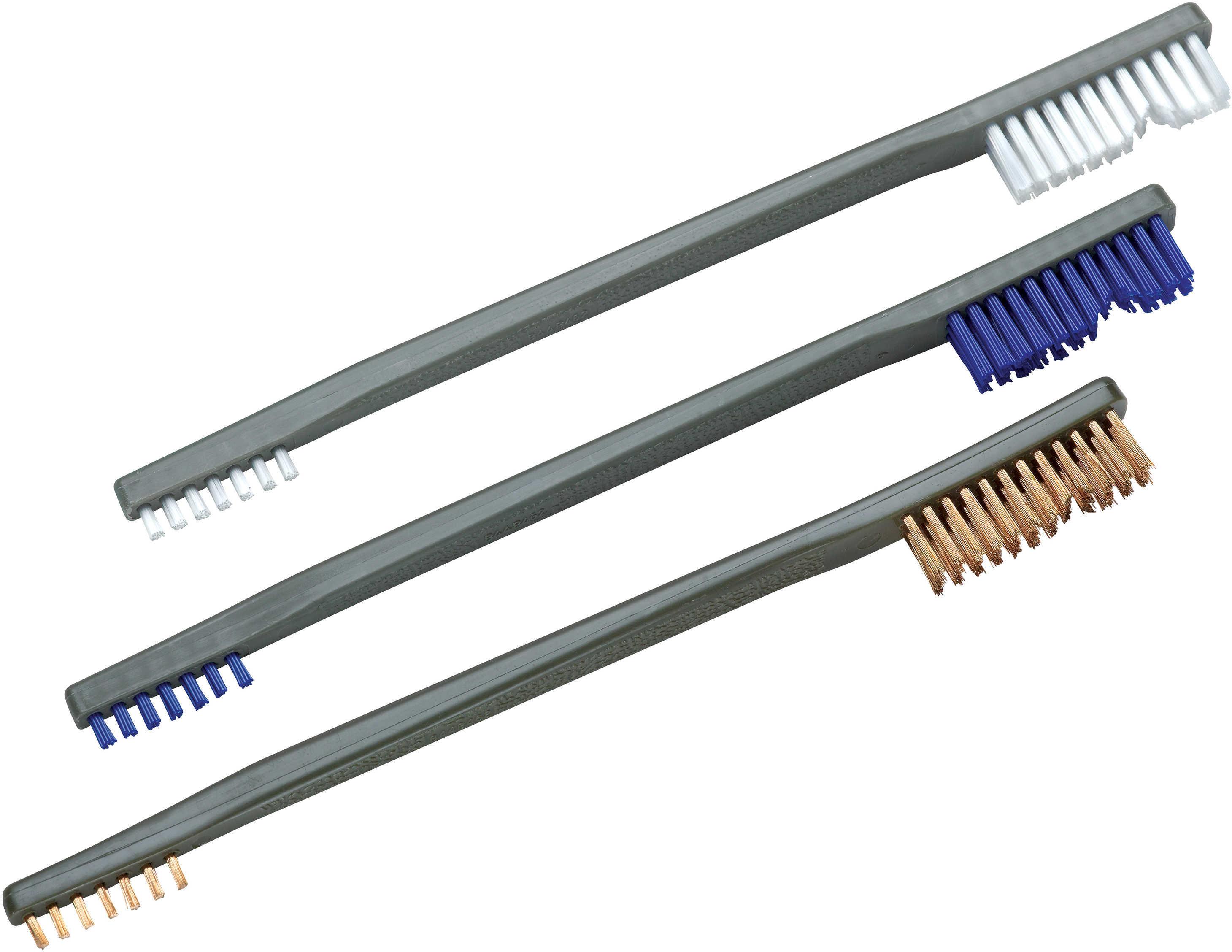Otis Receiver Brush 3-Pack Nylon, Blue Nylon, Bronze