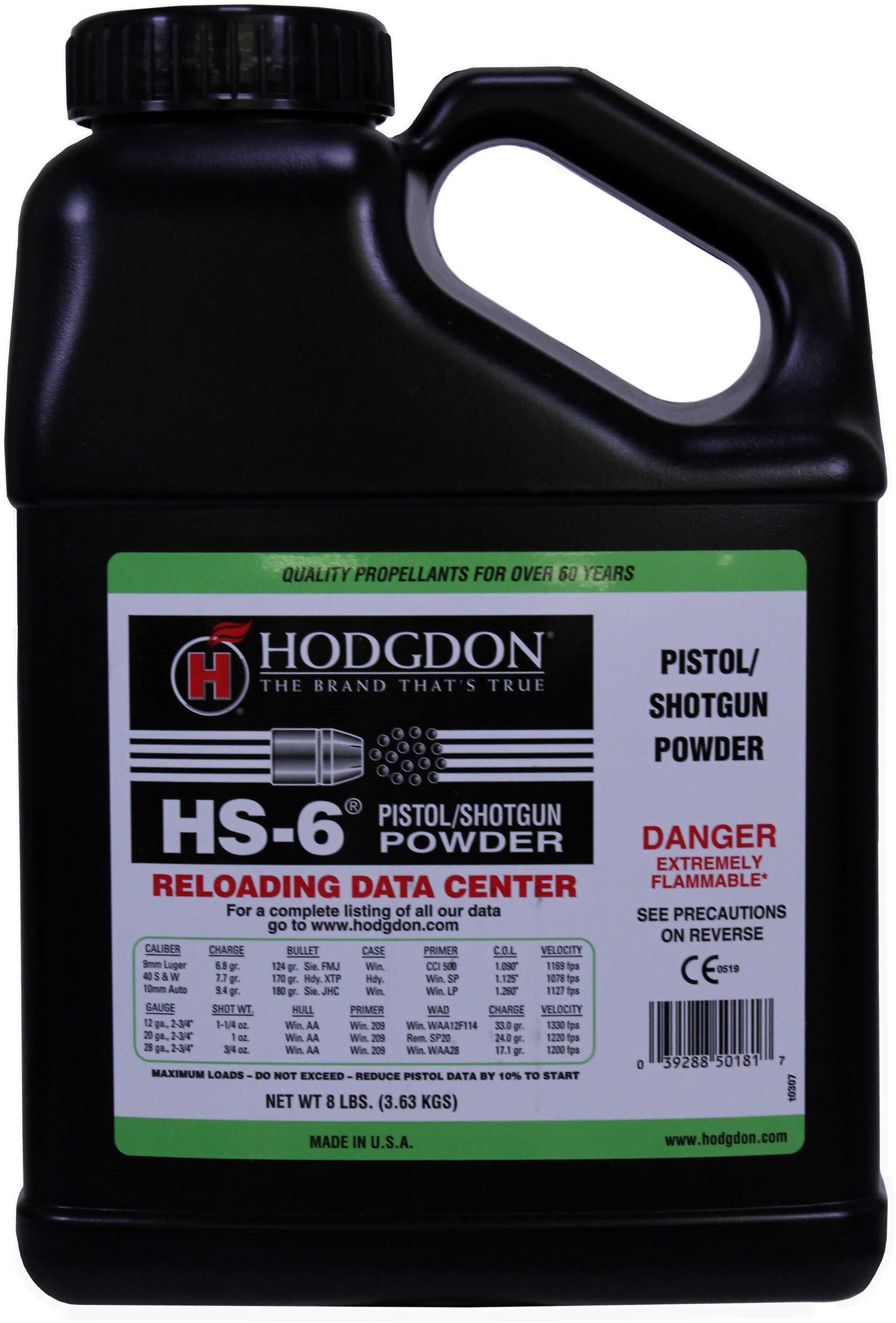 Hodgdon HS6 Smokeless Powder 8 Lbs