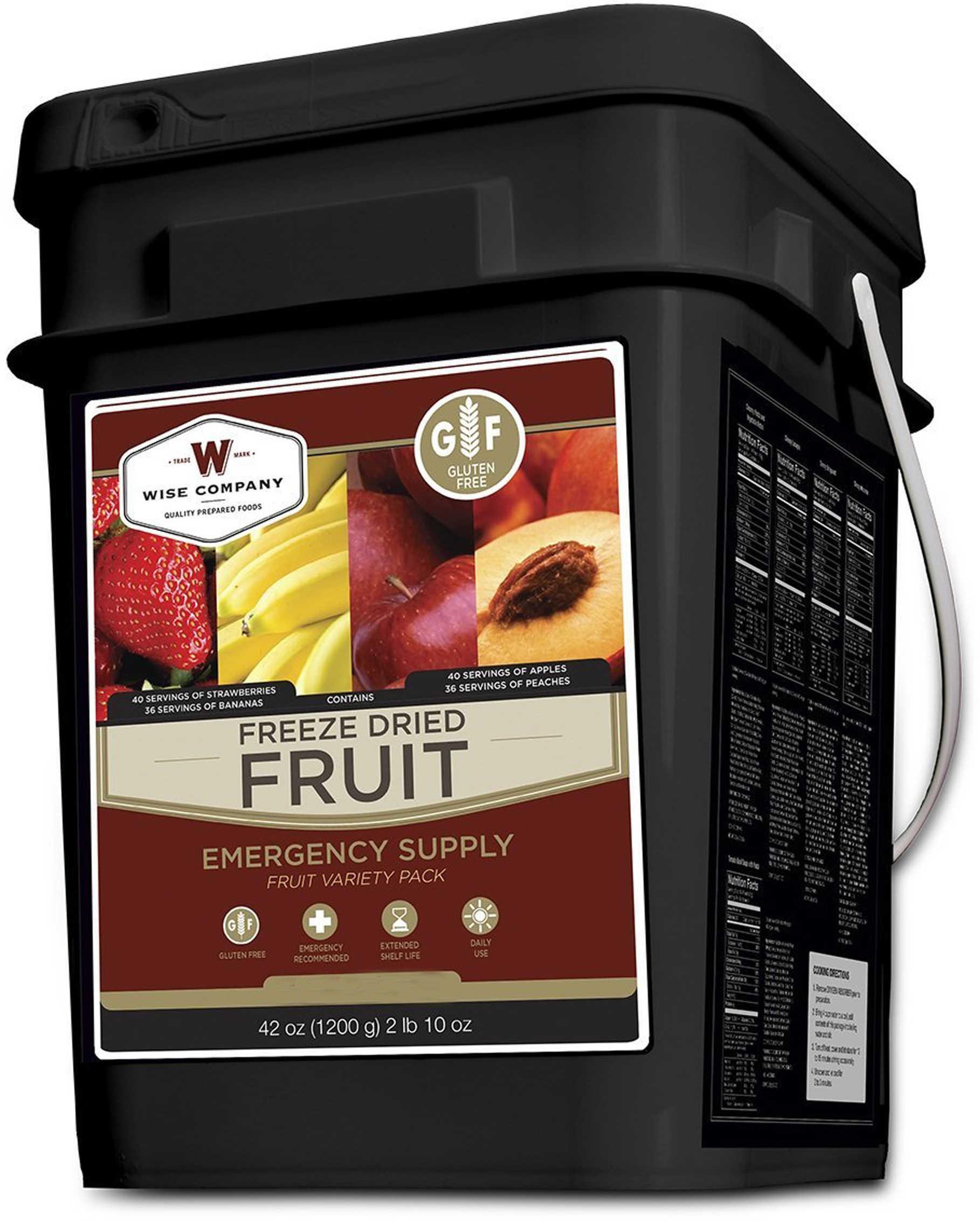 Wise Freeze Dried Fruit GF 156 Serving Bucket Gluten Free