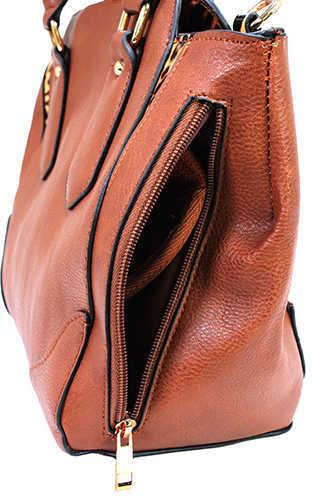 Bulldog BDP024 Satchel Style Purse Shoulder Universal Handgun Leather Chestnut