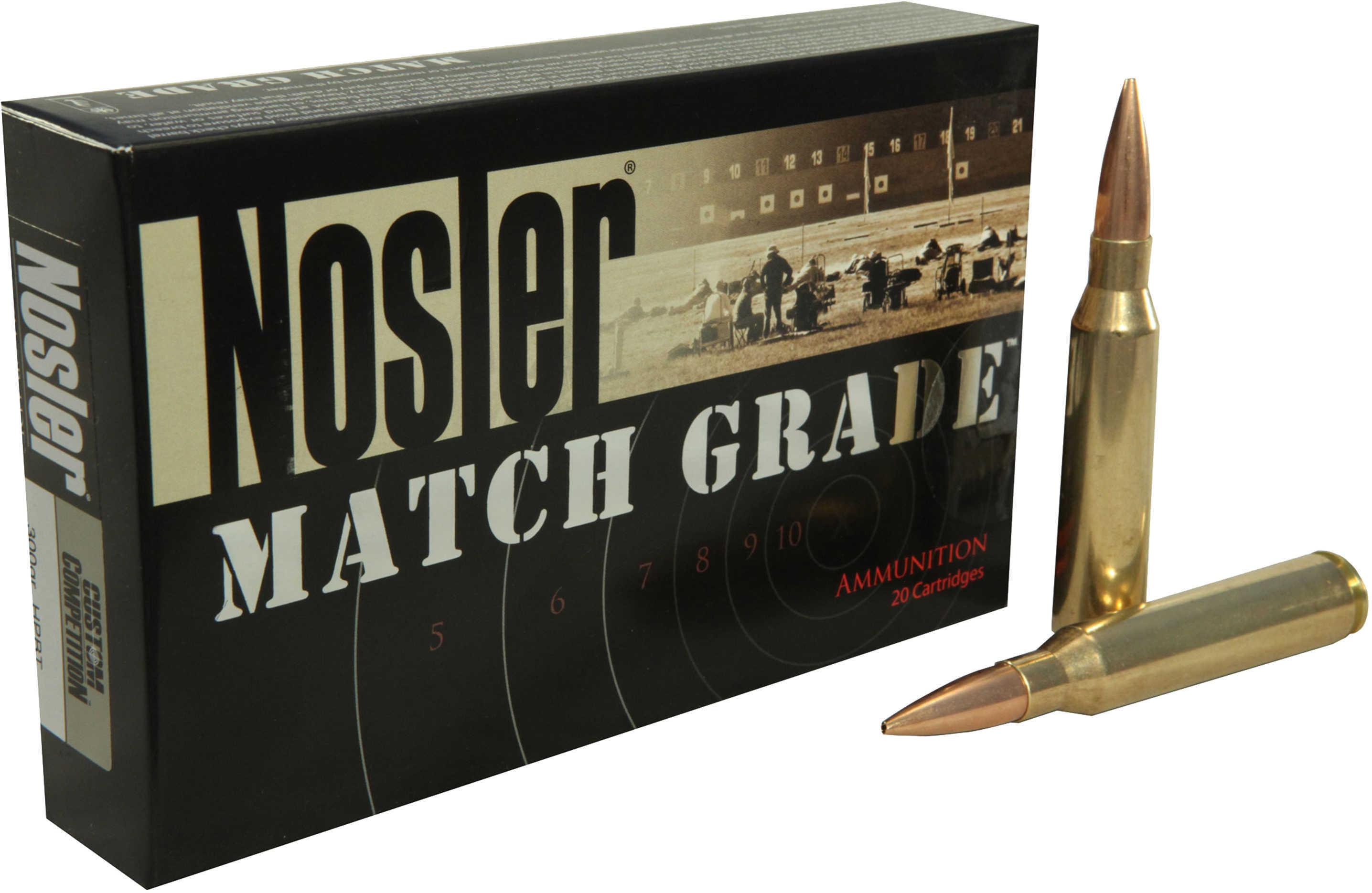 Nosler 60031 Match Grade 33 Nosler 300 Grain Custom Competition 20 Box