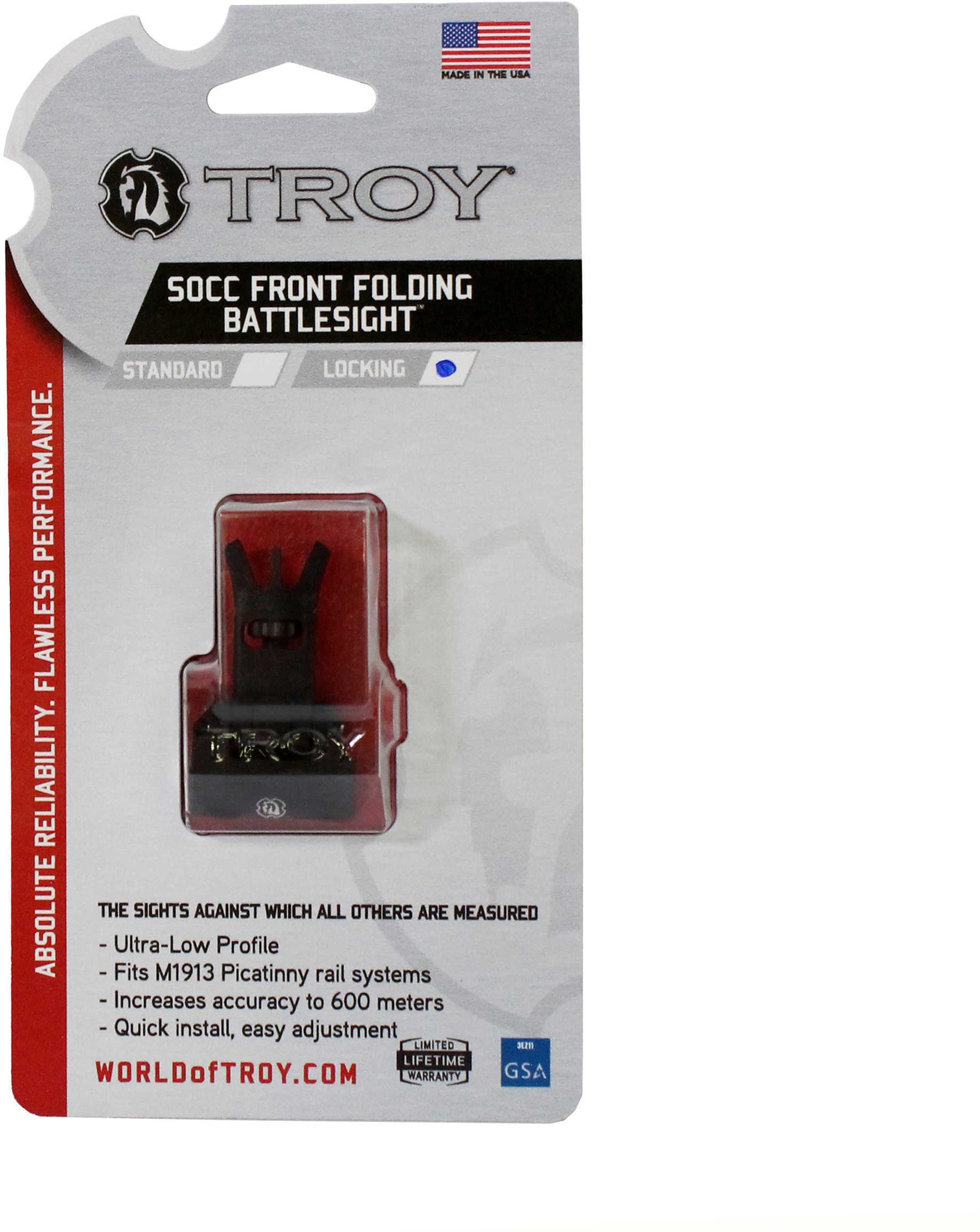Troy Industries SOCC Low Profile Folding Sight -Black