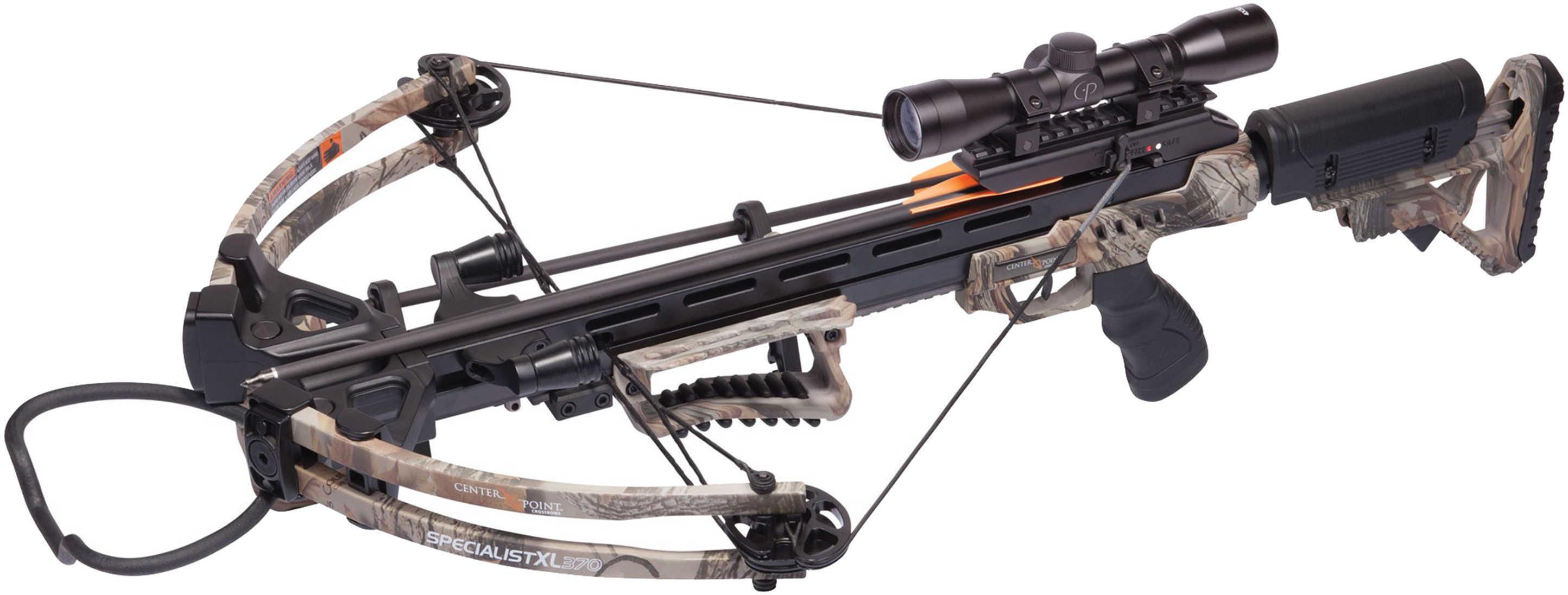 Crosman Specialist XL 370 Crossbow with 4x32mm Scope Md: AXCSP185CK