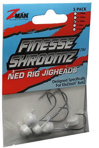 Z-man Finesse Shroomz Hooks 1/10 oz Size, Green Pearl, Per 5 Md: FJH110-05PK5