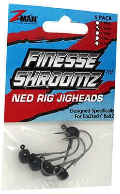 Z-man Finesse Shroomz Hooks 1/15 oz Size, Black, Per 5 Md: FJH115-02PK5