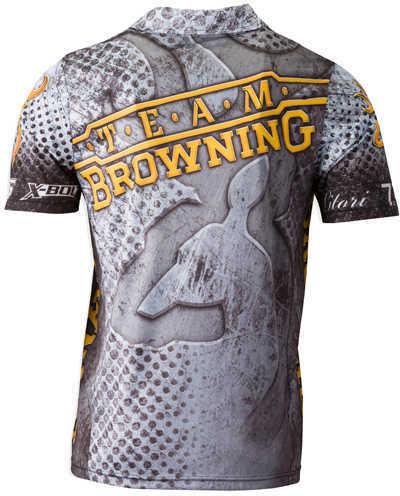 Team Browning Shooting Polo Shirt - Gray, Small Md: 3010556901