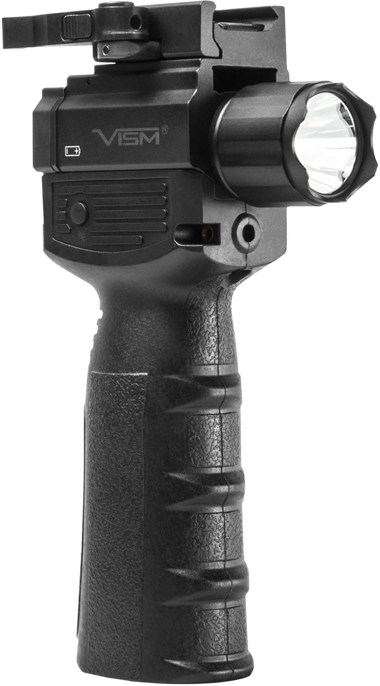 NcStar Vert Grip with Strobe Flashlight and ed Laser, Black Md: VAQVGFLRV2