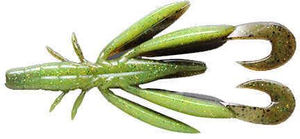 Jackall Lures Chunk Craw Soft Craw Bait Lure 3.5-Inch Body Length, Green Pumpkin Pepper, Pack Of 6 Md: JCHUN35-GPP