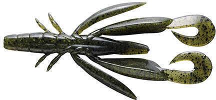 "Jackall Lures Chunk Craw Soft Craw Bait Lure 3 1/2"" Body Length, Watermelon Pepper, Per 6 Md: JCHUN35-WP"
