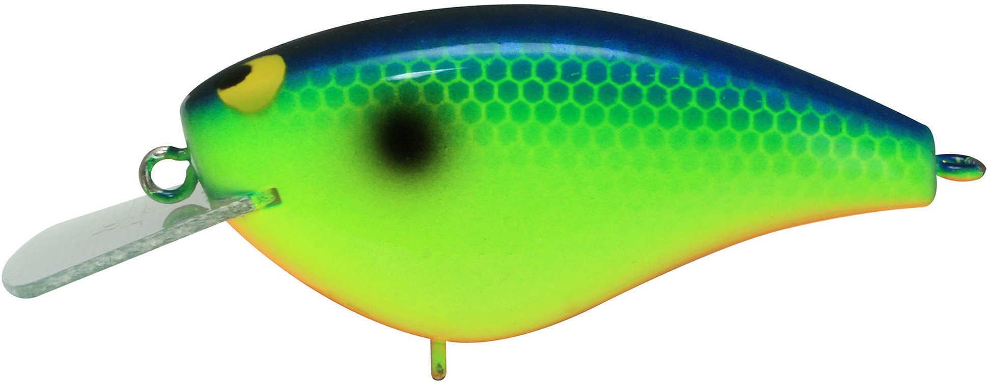 "Jackall Lures Bling 55 Hard Crank Bait Lure 2.20"" Body Length, 4' Depth, 3/8 oz, Blueback Chartreuse, Per 1 Md: JBLG55-B"