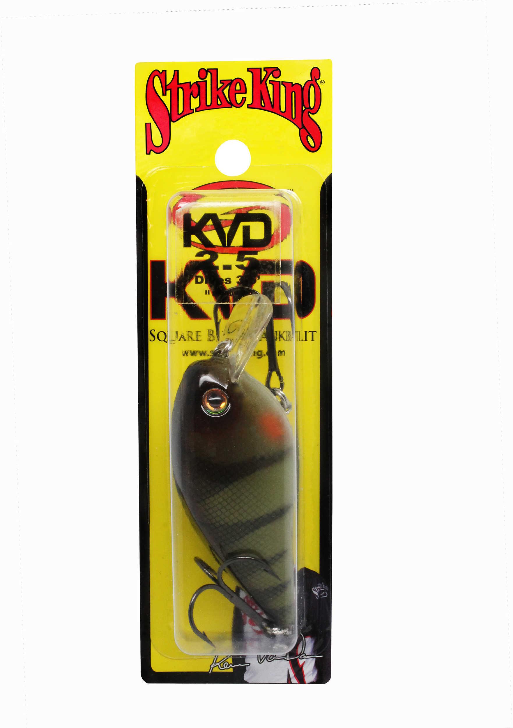 "Strike King Lures KVD Square Bill Hard Lure Model 2.5, 2 3/4"" Body Length, 3'-6' Depth, Yellow Perch, Per 1 Md: HCKVDS2."