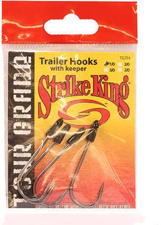 Strike King Lures Tour Grade Trailer Hooks 1/0 Hook, Black Nickel, Per 4 Md: TGTH1/0