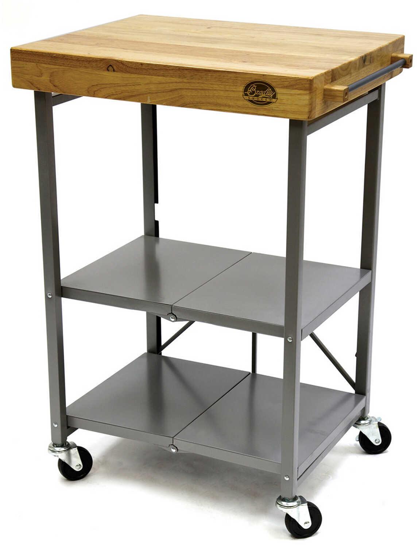 Bradley Technologies Foldable Kitchen Cart Md: BTKITCART