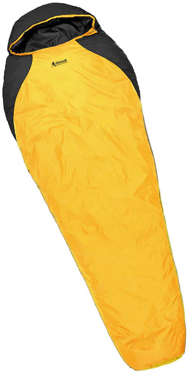 Chinook Mummy Sleeping Bag Kodiak Lite 14° F, Orange/Black Md: 20470