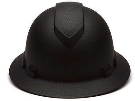 Pyramex Safety Products Ridgeline Full Brim Hard Hat 4 Point Ratchet, Black Graphite Md: HP54117