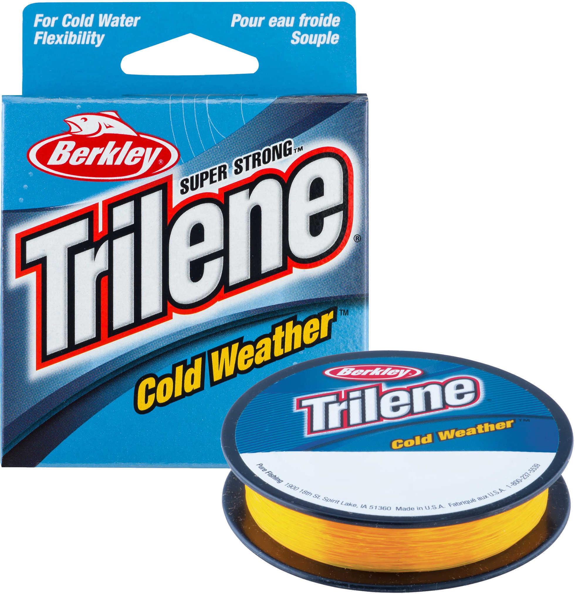 "Berkley Trilene Cold Weather Monofilament Line 4 lbs Breaking Strength, 0.008"" Diameter, 110 Yards, Klondike Gold Md: 14"