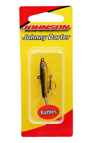 "Johnson Johnny Darter Hard Bait Lure 3/4"" Length, 1/8 oz, 2 Number 10 Hooks, Black/Gold, Per 1 Md: 1428633"