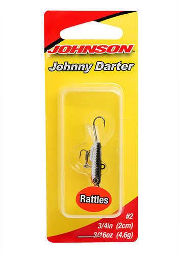 """Johnson Johnny Darter Hard Bait Lure 3/4"""" Length, 1/8 oz, 2 Number 10 Hooks, Chrome Black, Per 1 Md: 1428634"""
