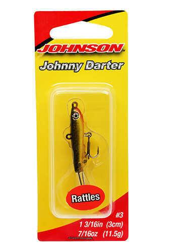 "Johnson Johnny Darter Hard Bait Lure 1 3/16"" Length, 3/8 oz, 2 Number 10 Hooks, Black/Gold, Per 1 Md: 1428643"