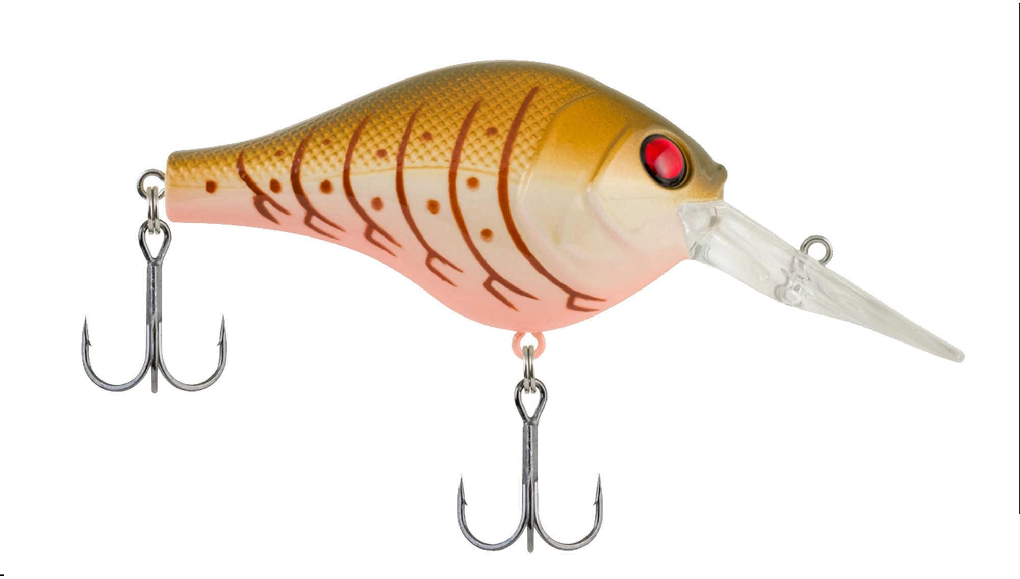 Berkley Digger Hard Bait Lure 1.75-Inches, 1/4 oz, 2 Hooks, 3'-5' Depth, Olive Cream Craw, Per 1 Md: 1431193