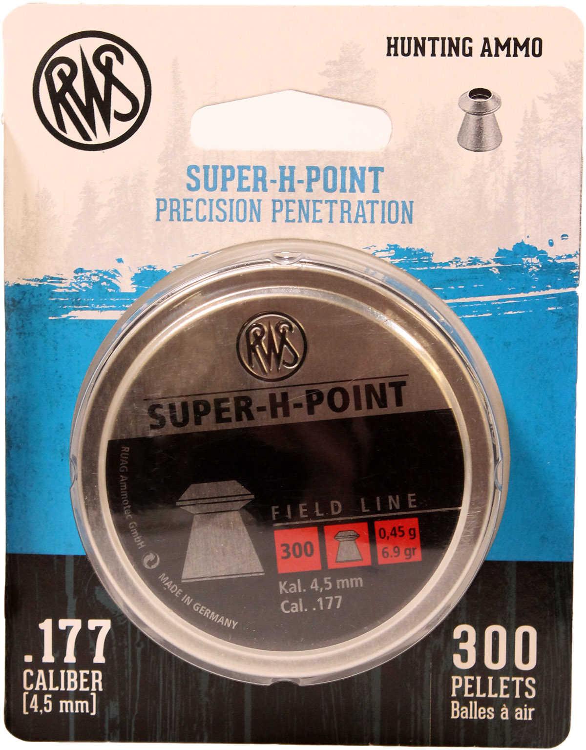 Umarex USA RWS Super-H-Point-Field Line Pellets .177 Caliber, Per300 Md: 2317403