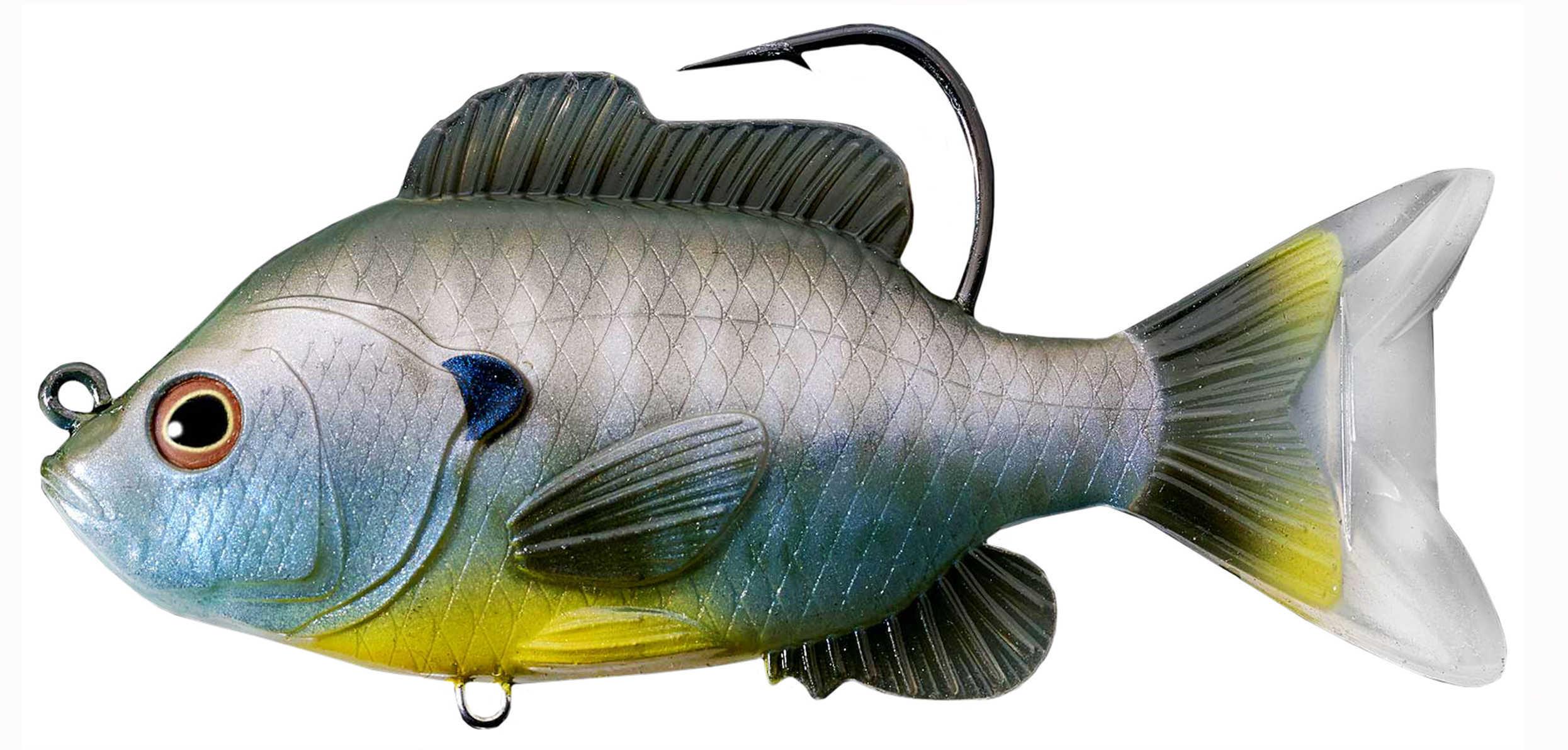 "LiveTarget Lures Sunfish Swimbait Freshwater, 5"" Length, 1 1/3 oz, 1'-8' Depth, Natural/Blue Natural Bluegi, Per 1 Md: S"