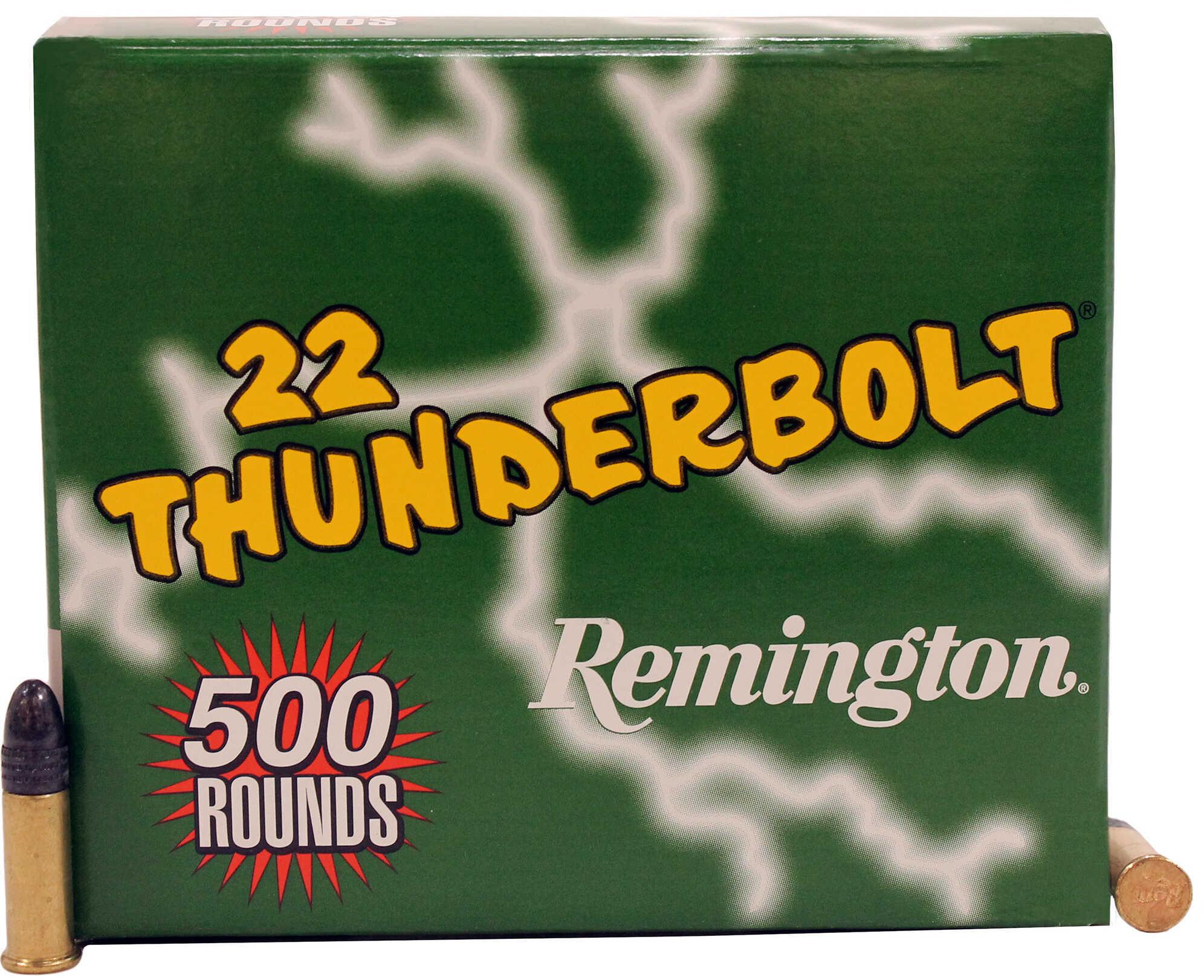 Remington .22 Long Rifle (LR) Rimfire, 40 Grains, Round Nose, Per 500 Md: REMTB22B
