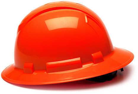 Pyramex Safety Products Ridgeline Full Brim Hard Hat 4 Point Ratchet, Hi Vis Orange Md: HP54141