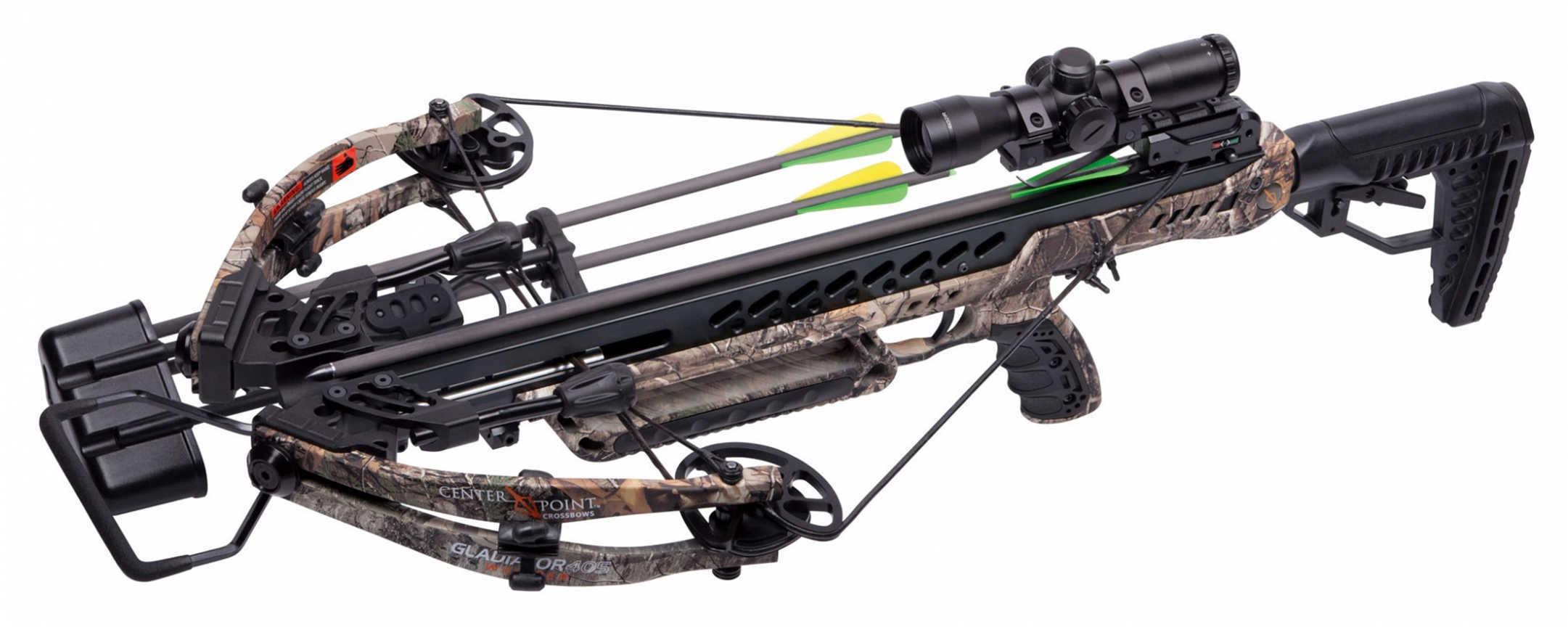 Crosman Gladiator Whisper 405 Crossbow, 200 lb Draw Weight, Realtree Xtra Md: AXCG200CK2