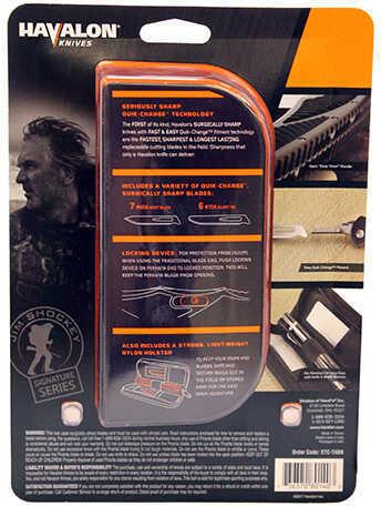 "Havalon Knives Double Folders Titan Pro, 5"" Drop Point Blade and Nylon Sheath, Clam Package Md: XTC-TABB"