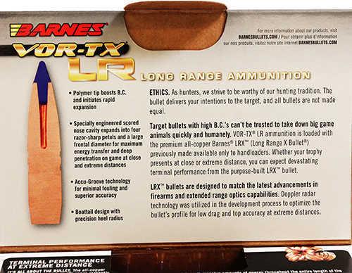 Barnes Bullets 375 Rem Ultra Mag VOR-TX Long Range Ammunition, 270gr, LRX Boat Tail, Per 20 Md: 29067