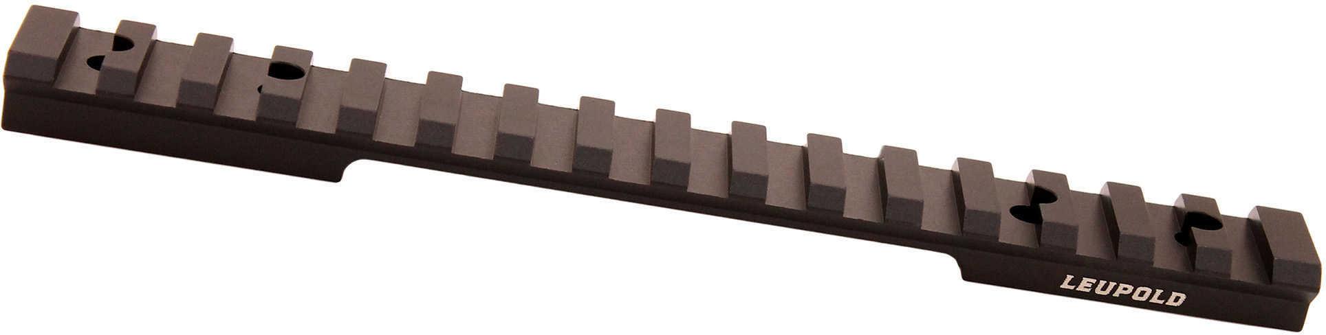 Leupold BackCountry Cross-Slot 1 Piece Base Weatherby Mark 5/Vanguard, Long Action, 20 MOA, Matte Black Md: 171355