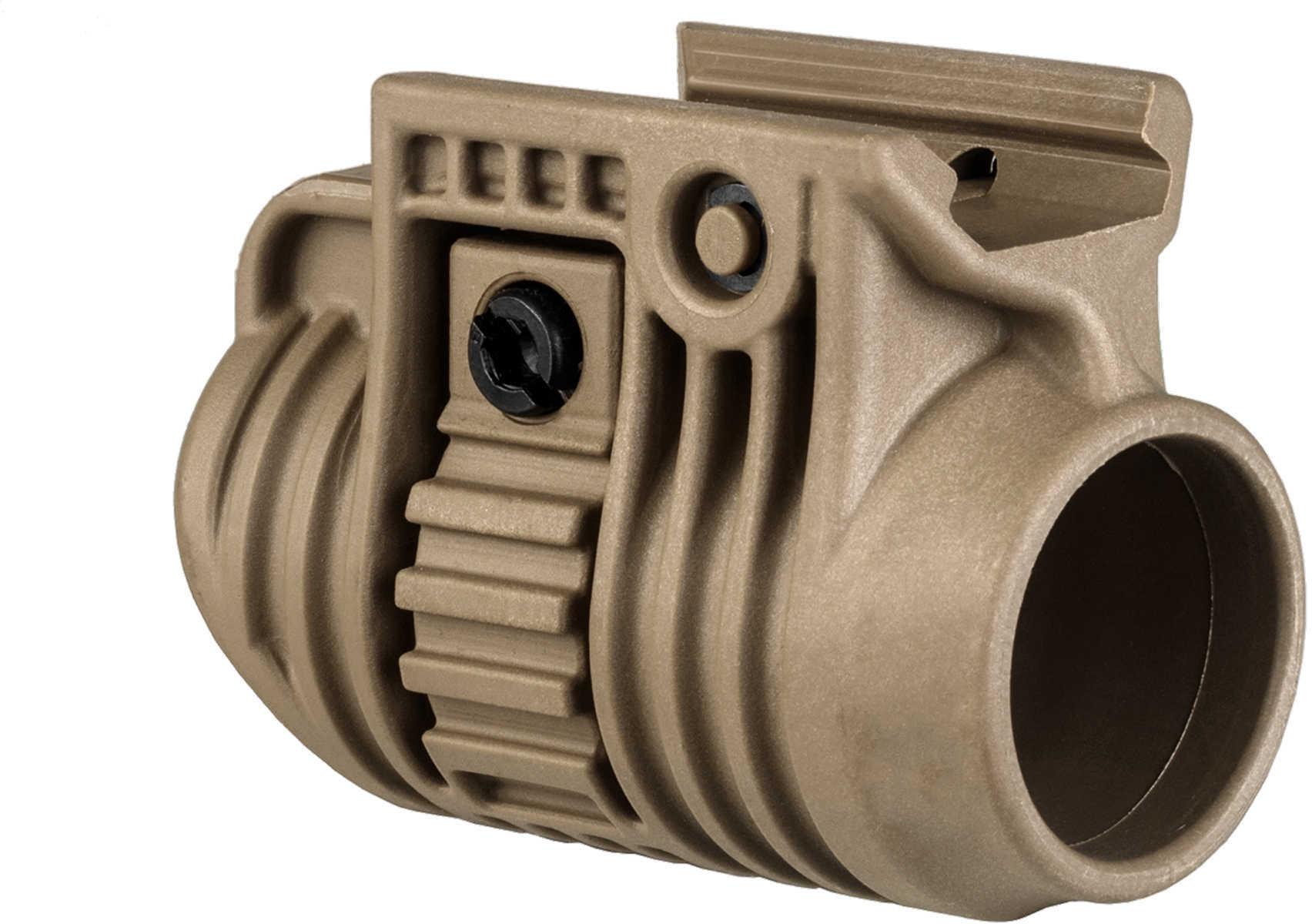 "Mako Group Tactical Light or Laser Adapter 1"", Flat Dark Earth Md: PLA 1-FDE"