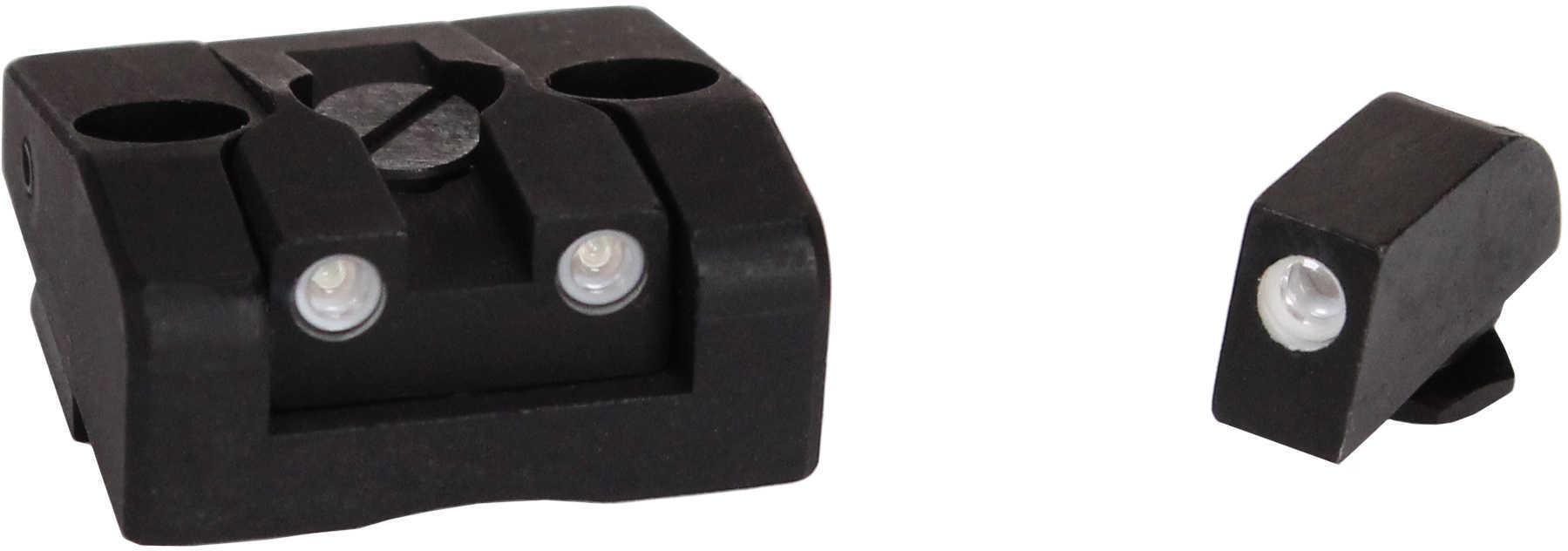 Mako Group for Glock Tru-Dot Night Sight 26/27 Adjustable Set, Green