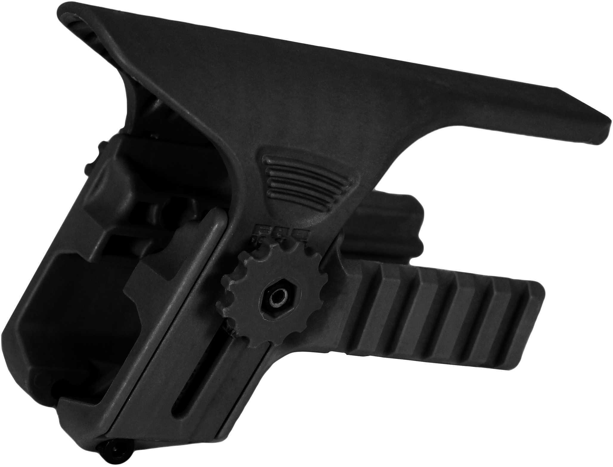 Mako Group Adjustable Cheek Riser with Picatinny Rail for GL-SHOCK, Black