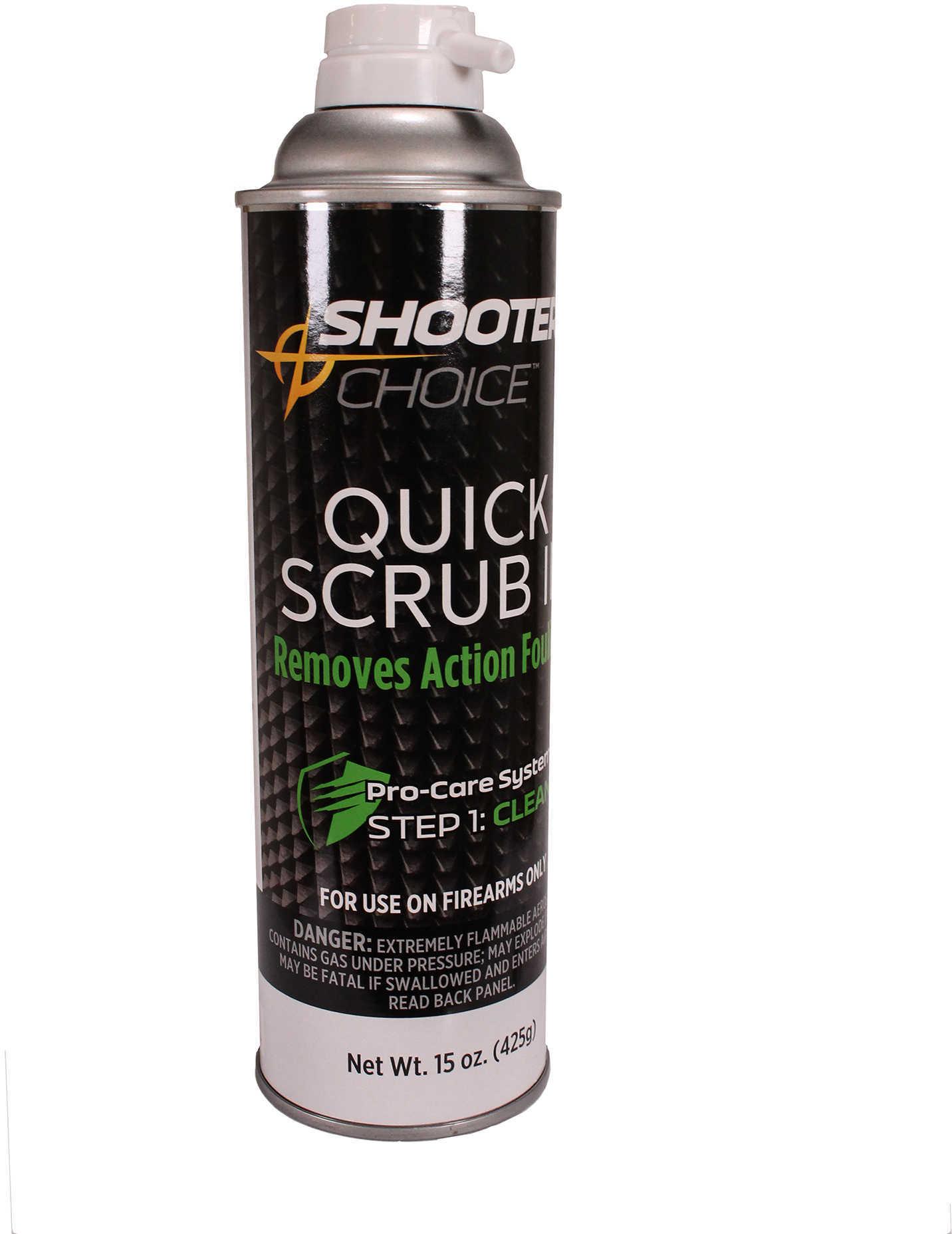 Shooter's Choice Quick-Scrub 3 Gun Cleaner-Degreaser, 15 oz Aerosol