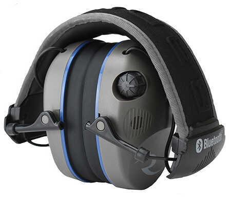 Radians R-3700 Electronic Earmuff Quad Microphone, Bluetooth (NRR 24 dB) Pewter/Black