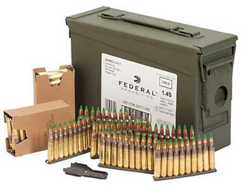 Fed Ammo AE Tactical 5.56X45 62Gr. FMJ-BT Clipped 420Rd CAS
