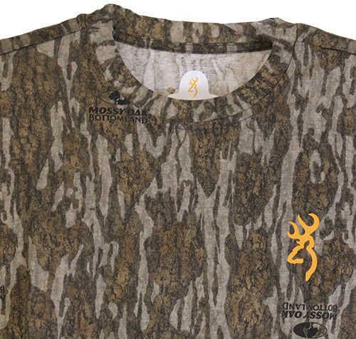 Browning Wasatch-CB Short Sleeve Shirt Mossy Oak Original Bottomlands, Small