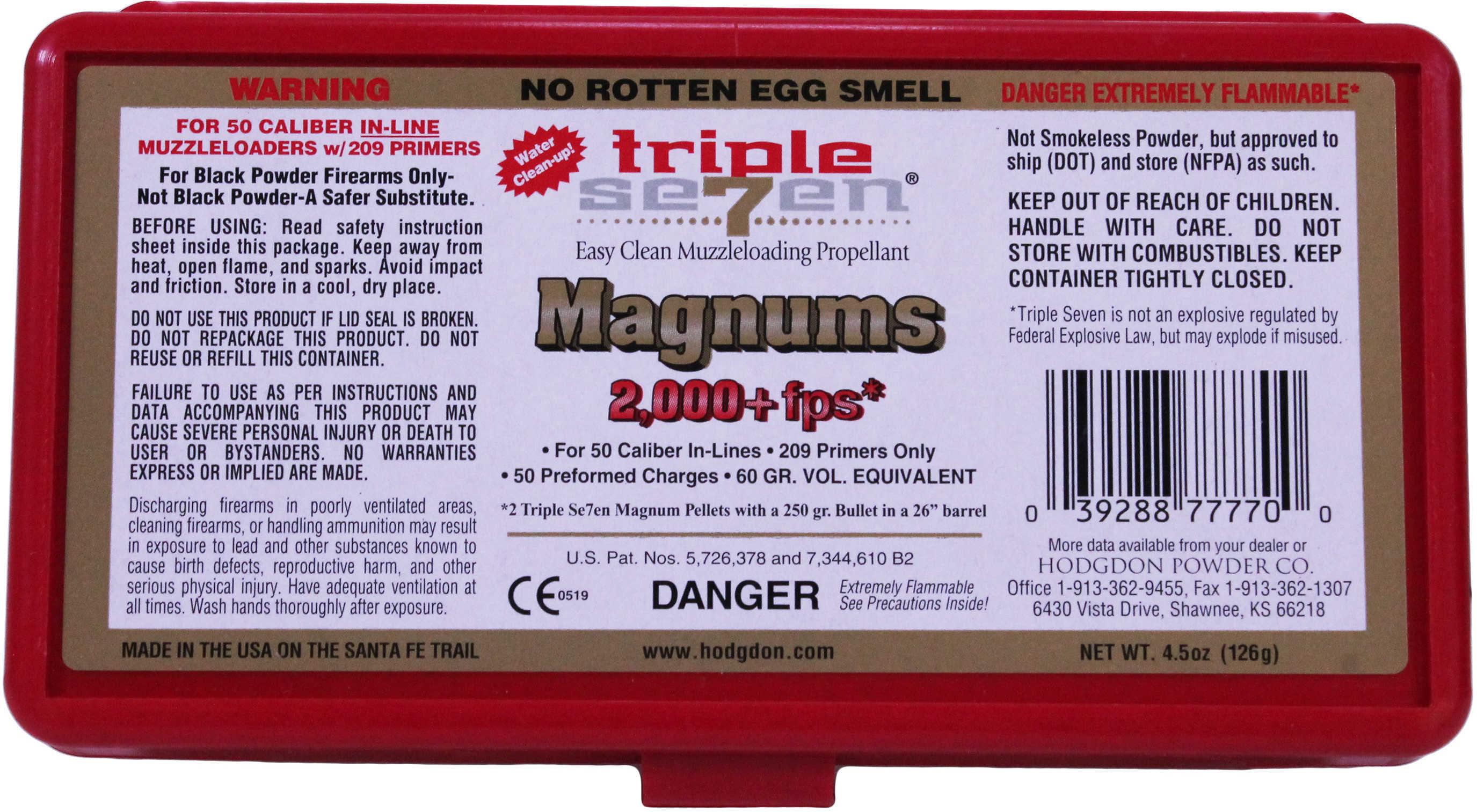 Hodgdon Triple 7 Magnum Pellets