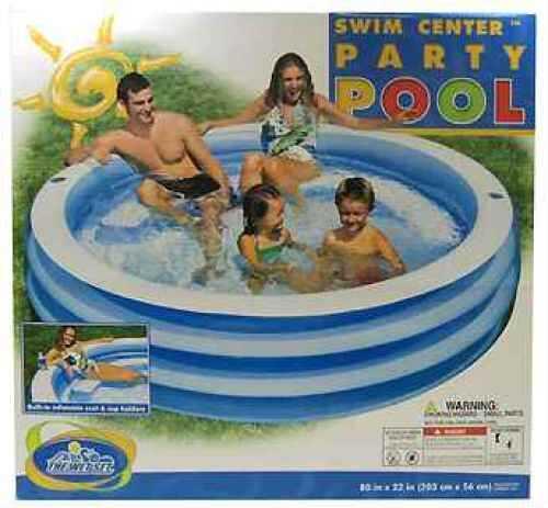 Swim Center Round Pool Age 6+ Blue Md: 57481E
