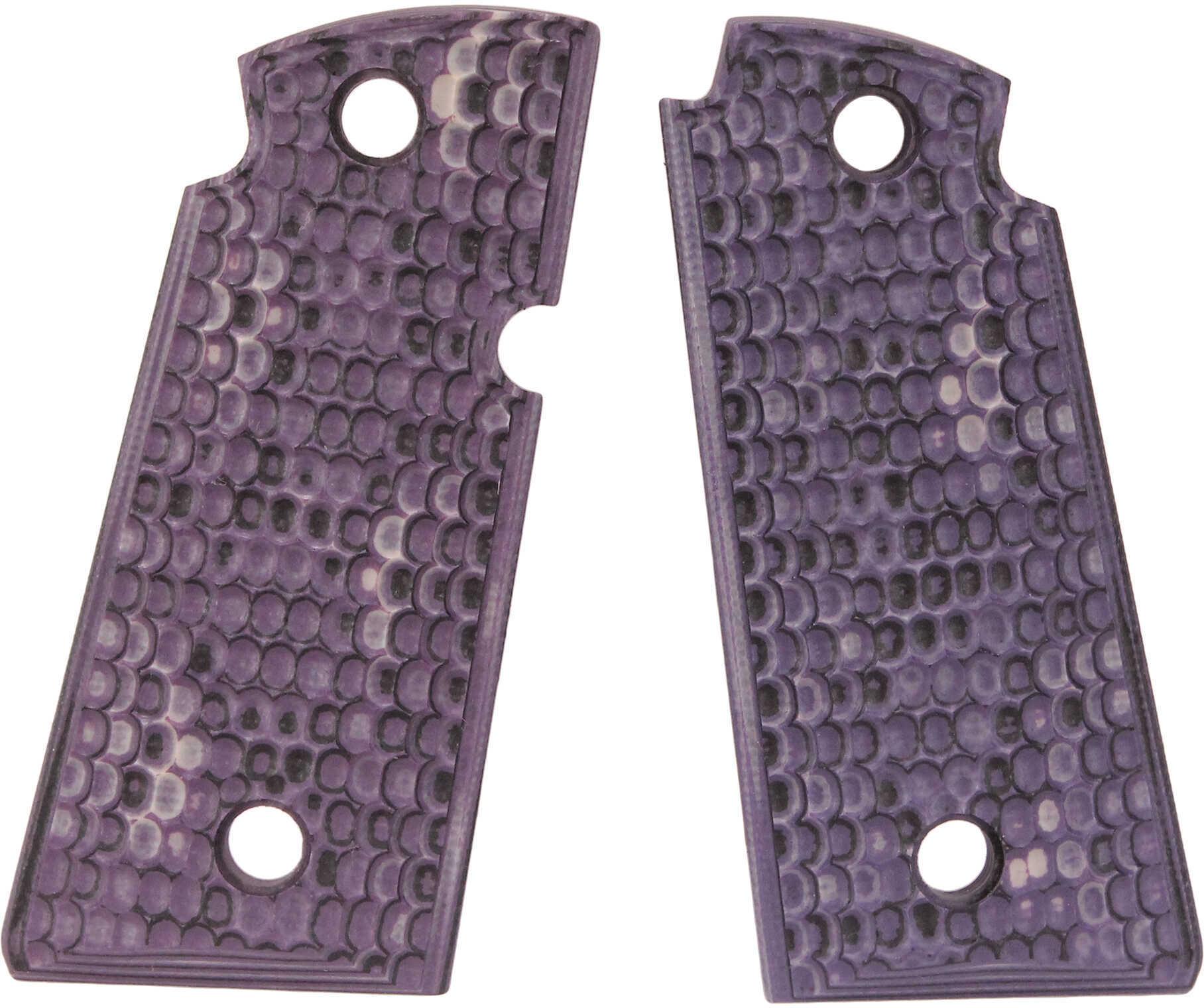 Hogue Kimber Micro .380 Ambidextrous Piranha G10 - G-Mascus Purple Lava