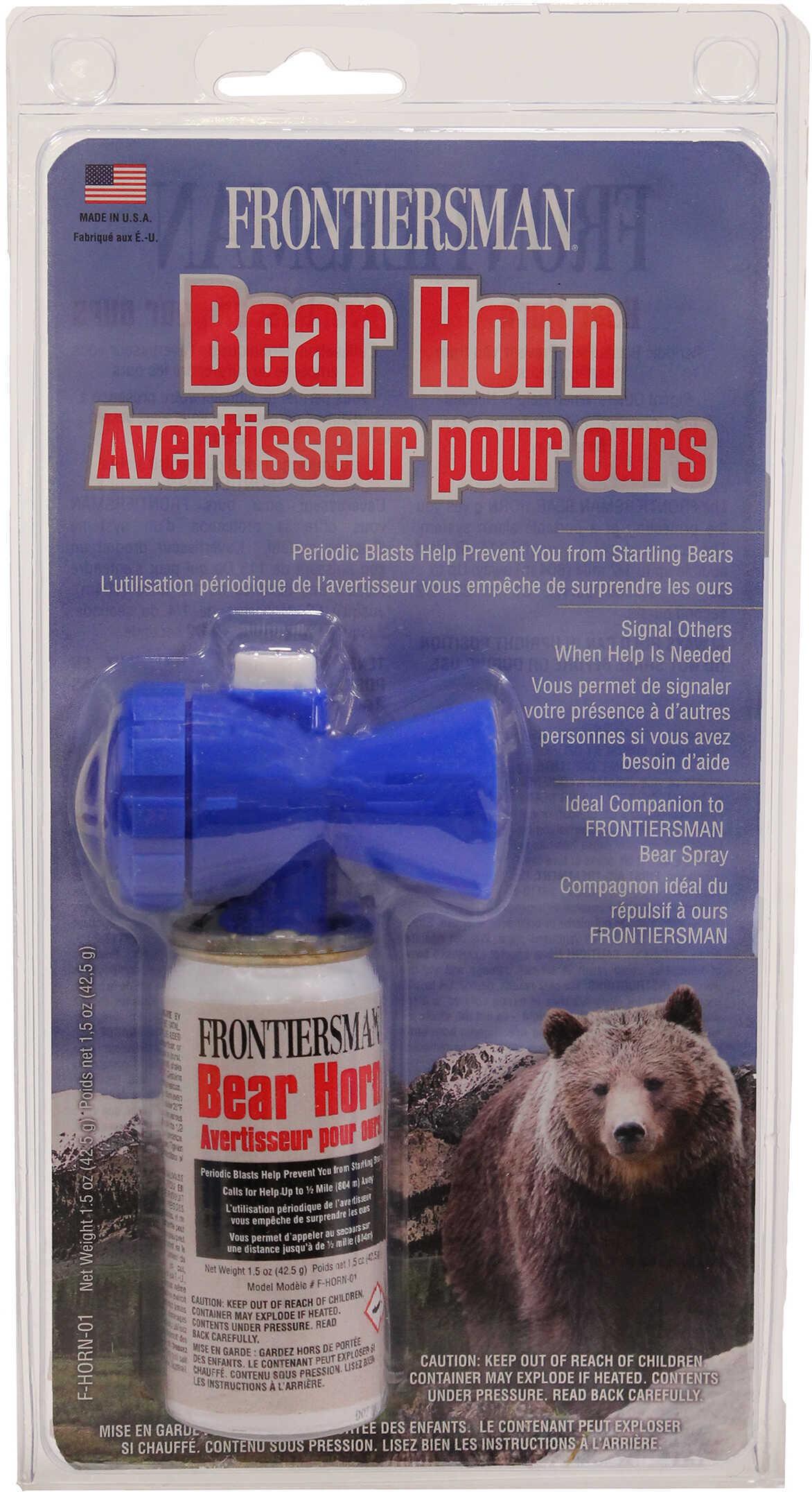 Sabre Alarm Frontiersman Bear Horn White Finish F-HORN-01