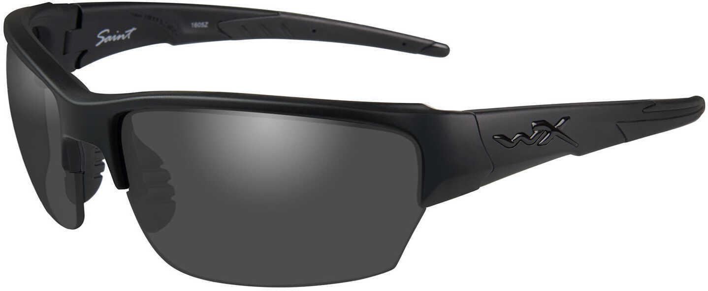 Wiley X WX Saint Sunglasses Matte Black Frame, Smoke Gray Lens
