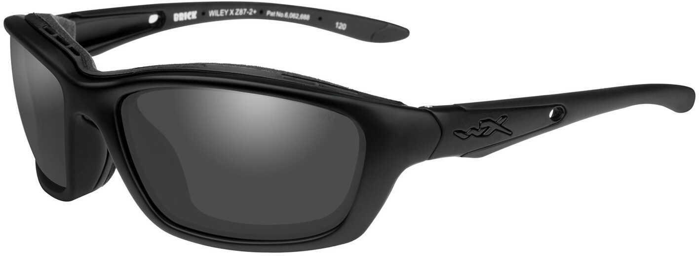 Wiley X Brick Sunglasses Matte Black Frame, Smoke Gray Lens