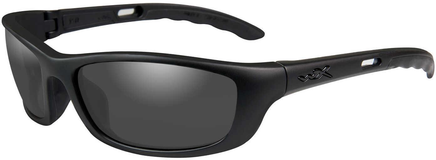 Wiley X P17 Sunglasses Matte Black, Smoke Gray Lens