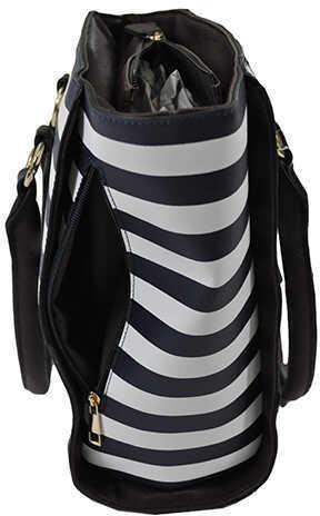 BD Tote Style NVY Stripe 17X12X5